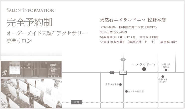 佐野店舗までの地図